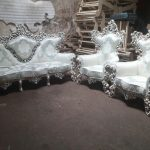 مبل استیل سلطنتی تاج عروس مدل رضوی دیزاین