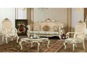 ست کامل و قیمت مناسب مبلمان کلاسیک مدل هاونسیس با کلاف چوب روس و پارچه بسیار مرغوب