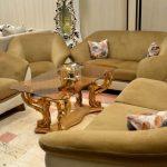 مبل راحتی جدید وبسیار شیک نرمین با رنگ پارچه دلخواه مشتری با کلاف چوب روس بسیار دنج