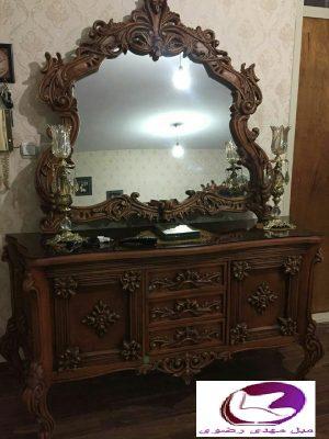 قیمت میز کنسول و آینه به قیمت ارزان تولیدی کد 01