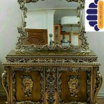 آینه کنسول چوبی سلطنتی کد ۰۱