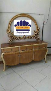 قیمت آینه کنسول چوبی کد 01