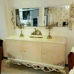 آینه کنسول چوبی کد ۰۴