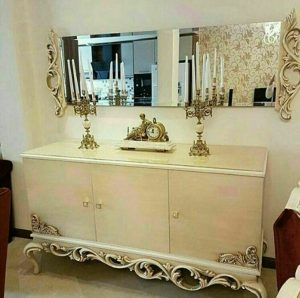 قیمت آینه کنسول چوبی مدرن