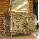 آینه و میز کنسول چوبی سلطنتی شیک و جدید