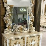 آینه کنسول سفید کد ۰۳۳ به قیمت تولیدی