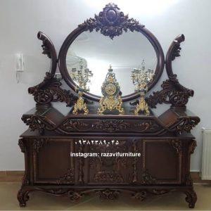 تولیدی آینه کنسول سلطنتی مدل جدید تولیدی رضوی با قیمت