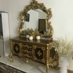 آینه کنسول مدرن چوبی با قیمت