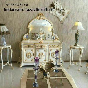 ارزان ترین آینه کنسول چوبی سلطنتی با قیمت