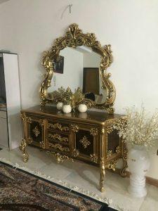 آینه کنسول چوبی سلطنتی کد ۰۳۱