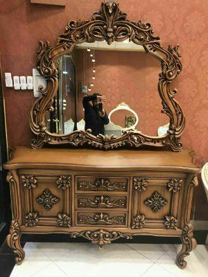 قیمت خرید آینه کنسول چوبی کلاسیک