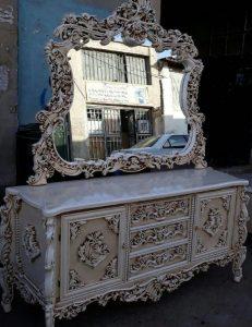 فروش آینه کنسول چوبی