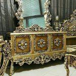 قیمت آینه کنسول سفید سلطنتی کد ۰۲۷