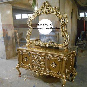 قیمت آینه کنسول سلطنتی چوبی