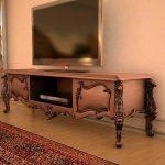 میز تلویزیون کلاسیک چوبی