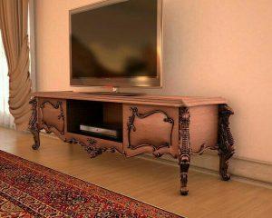 خرید اینترنتی میز تلویزیون چوبی به قیمت تولیدی