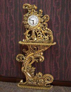 خرید آنلاین ساعت کنسول چوبی سلطنتی سفید کد ۸۹