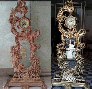 خرید اینترنتی ساعت ایستاده چوبی کلاسیک سلطنتی کد 74