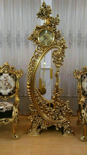 ساعت ایستاده پاندول دار سلطنتی چوبی کد 69 یافت آباد دکوراسیون داخلی