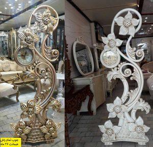 ساعت ایستاده چوبی سلطنتی مدل گلبرگ
