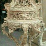 ساعت کنسول سفید سلطنتی چوبی کد ۸۸