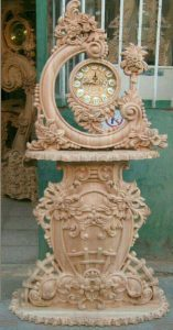 جدیدترین مدل ساعت کنسول چوبی سلطنتی کد 81با قیمت تولیدی مبل مهدی رضوی