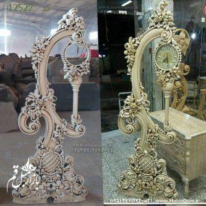 مدل ساعت ایستاده چوبی سلطنتی کلاسیک با قیمت تولیدی مبل مهدی رضوی بافت آباد پاندول دار