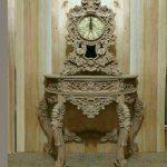 ساعت پاندول دار میز کنسول چوبی سلطنتی کد ۸۷