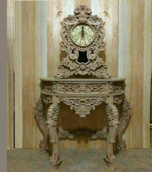 جدیدترین مدل ساعت کنسول چوبی سلطنتی کد 87