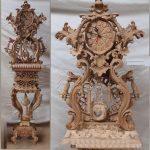 مدل ساعت کنسول چوبی کلاسیک کد ۶۸