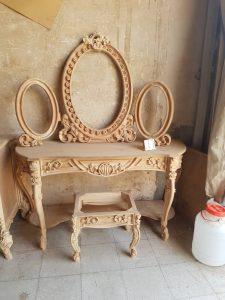 آینه کنسول دیواری چوبی کد ۳۶