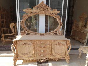 قیمت آینه و میز کنسول سلطنتی دکوراسیون