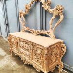 آینه کنسول سلطنتی چوبی کد ۳۷ تولیدی رضوی