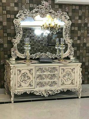 قیمت به روز آینه کنسول مدرن سفید