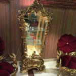 بوفه ویترین سلطنتی طلایی مدل تینا
