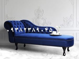 مبل شزلون مدرن سفید modern chaise lounge