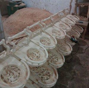 میز بار چرخ دار تمام چوب راش با قیمت تولیدی مخصوص جهیزیه عروس