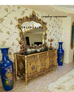 آینه و میز کنسول تک درب جدید و شیک به قیمت تولیدی آینه کنسول رضوی
