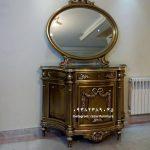 آینه کنسول چوبی تک درب با قیمت – تولیدی مبل رضوی تبریز