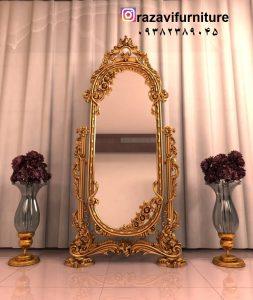 آینه قدی چوبی متحرک