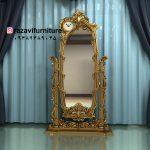 آینه قدی چوبی پایه دار