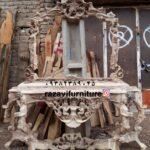 آینه کنسول سلطنتی تمام چوب راش