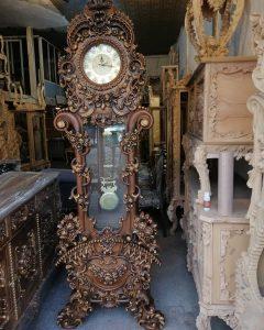ساعت ایستاده چوبی لاکچری