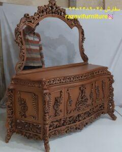 قیمت آینه کنسول چوبی مدل آرزو