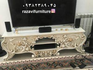 میز LCD چوبی شیک و لوکس