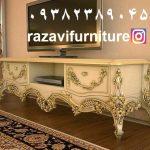 میز تلویزیون چوبی کد ۱۸ تولیدی رضوی تبریز