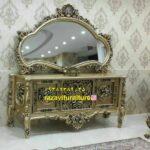 آینه کنسول چوبی لاکچری