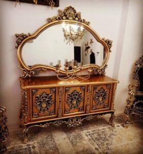 جدیدترین مدل آینه کنسول چوبی لاکچری