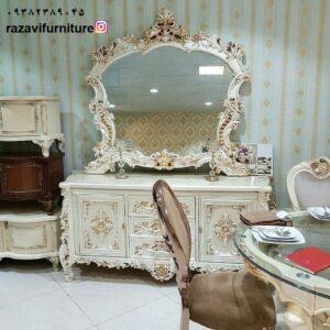 آینه کنسول چوبی جدید با قیمت