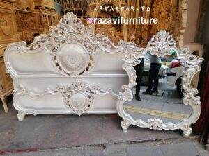 لوکس ترین تخت خواب دو نفره مدل رز در تولیدی رضوی